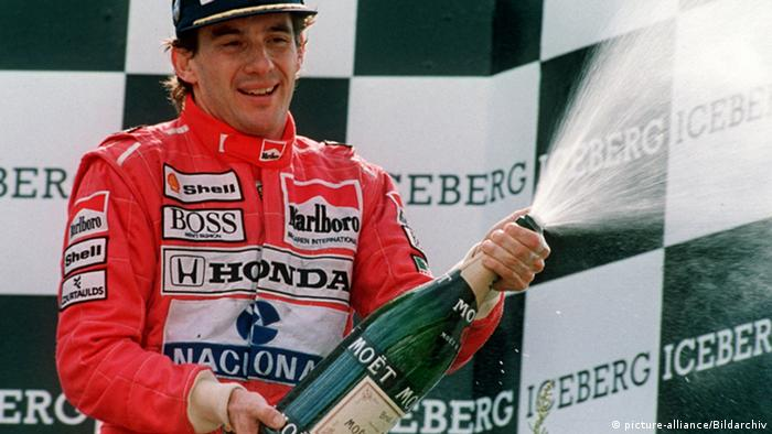 Ayrton Senna Spa 1991 (picture-alliance/Bildarchiv)