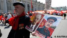 Russland Roter Platz Feierlichkeiten 1. Mai
