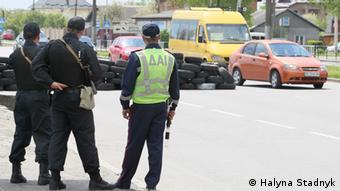 Ukraine Sicherheitsmaßnahmen in Lviv 1. Mai 2014