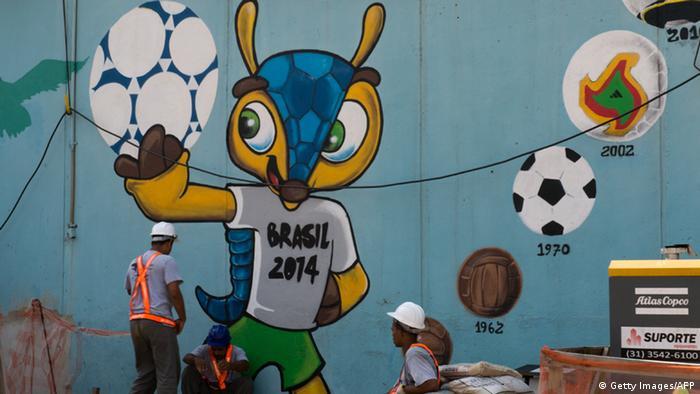 Fußball Weltmeisterschaft Brasilien 2014 Maskottchen Fuleco