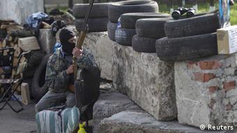 Ukraine - Offensive in Slowjansk, prorussische Aktivisten