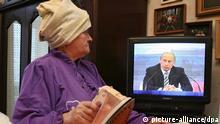 Russland Putin Fernsehen PK