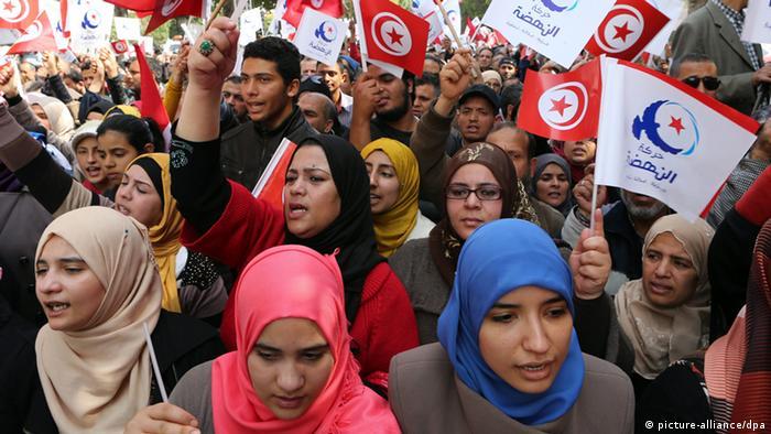 Tunesien Enahda Unterstützer 20.03.2014