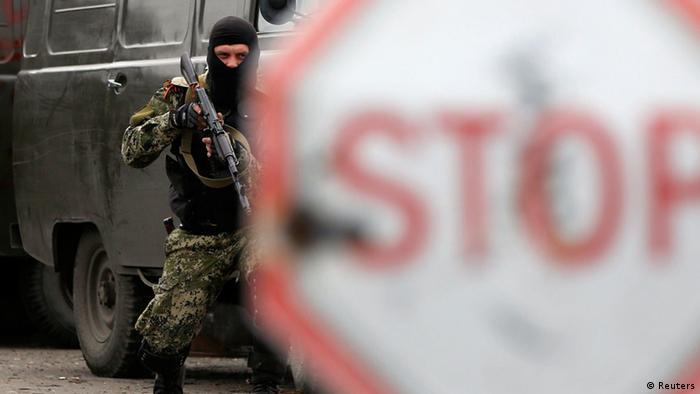Ukraine - Offensive in Kramatorsk, prorussische Aktivisten 2. Mai 2014