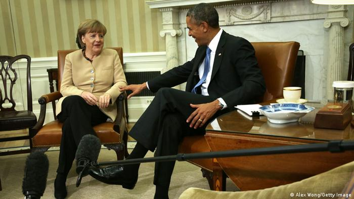 Angela Merkel und Barack Obama im Oval Office (Foto: Getty Images)
