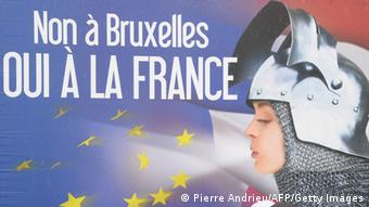 Frankreich Front National election poster. (Photo: PIERRE ANDRIEU/AFP/Getty Images)