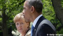 Angela Merkel und Barack Obama 2.5.2014 (Getty Images)