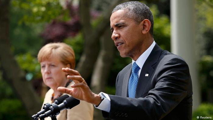 Angela Merkel und Barack Obama am 2.5.2014 (Foto: Reuters)