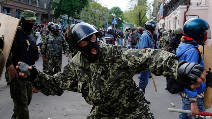 Zusammenstöße in Odessa, Ukraine (Foto: Reuters)