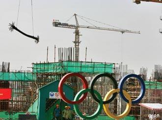 奥运五环旗下的北京工地