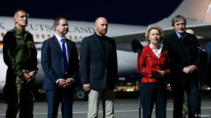 Члени групи ОБСЄ та міністр оборони ФРН фон дер Ляєн
