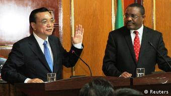 Li Keqiang, Präsident von China beim Besuch in Äthiopien mit Ministerpräsident Hailemariam Desalegn. (Foto: Reuters)