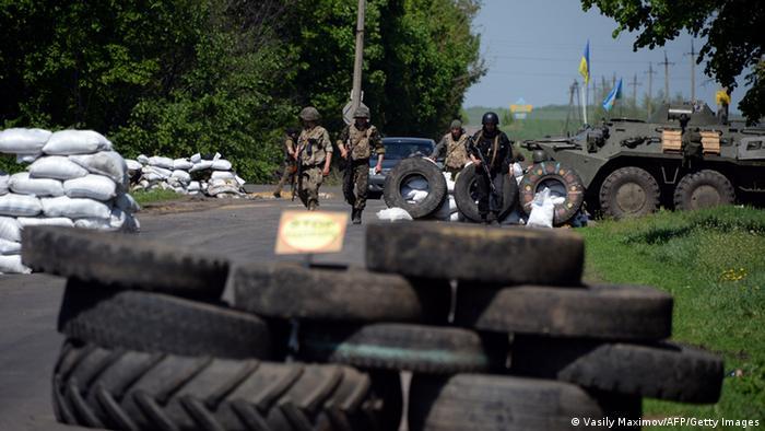 Ostukraine Krise Checkpoint bei Slowjansk 04.05.2014