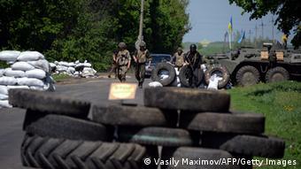 Баррикады на подъездах к Славянску