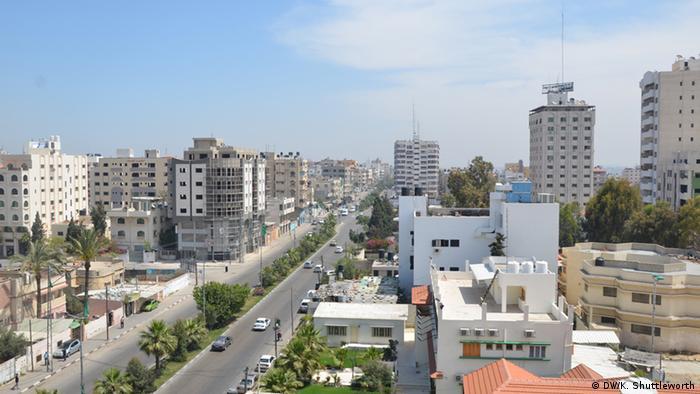 A view of Gaza City