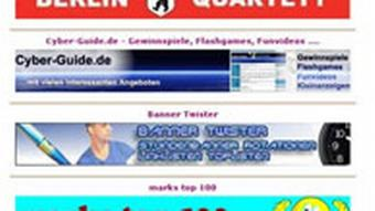 Screenshot mit Internet-Werbebannern