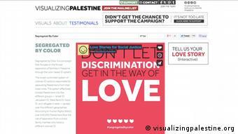 Le site Visualizing Palastine remporte le prix de l'activisme social