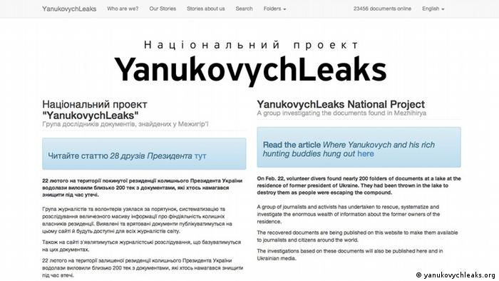 Screenshot of #TheBobs14 yanukovychleaks.org
