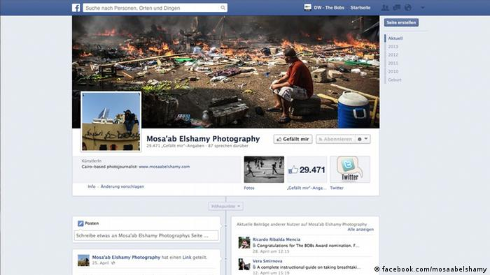 Screenshot of #TheBobs14 award winner facebook.com/ mosaabelshamy