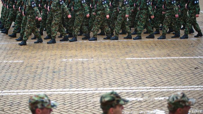 Vorbereitung auf Militärparade Bulgarien Sofia