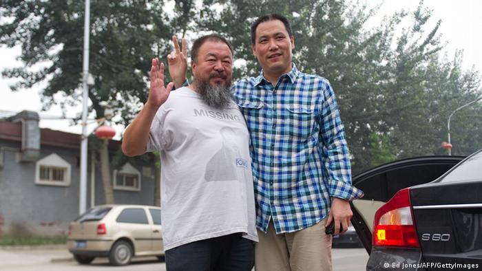 China Anwalt Pu Zhiqiang mit Ai Weiwei Archivbild 2012