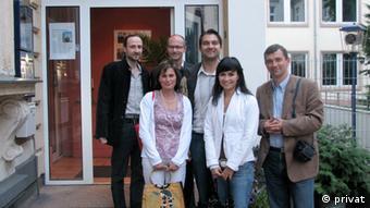 Andrzej Przylebski Philosophieprofessor mit Mitarbeitern