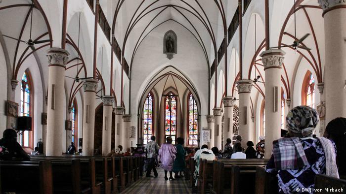 Bildergalerie Togo Erinnerungen an die deutsche Kolonialzeit Innenansicht Kathedrale