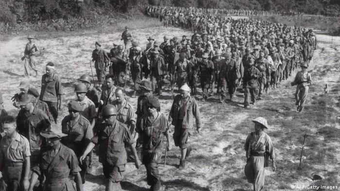 Soldados franceses en Dien Bien Phu. (1954).