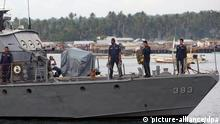 Philippinen Navy Marine Boot Abu Sayyaf Rebellen