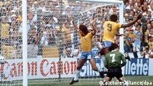 Arthur Antunes Coimbra scores in 1982