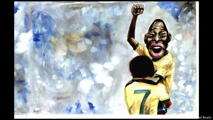 Fußballer Pelé jubelt