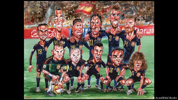 Ein Gruppenbild des spanischen WM-Kaders bei der WM 2010.