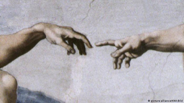 جزئی از تابلوی آفرینش اثر میکل آنژ