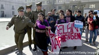 Mapuche-Indianer Protest in Chile