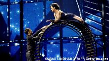 Marija Jaremtjuk of Ukraine performs with her song 'Tick-Tock' during the first femi-final dress rehersal in Copenhagen on May 5, 2014 prior to the Eurovision 2014 Song Contest in Copenhagen on Saturday. AFP PHOTO / Scanpix Denmark /BAX LINDHARDT / DENMARK OUT (Photo credit should read BAX LINDHARDT/AFP/Getty Images)