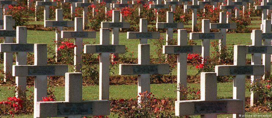 Cemitério de soldados franceses em Douaumont, palco da Batalha de Verdun