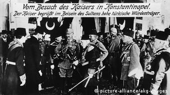 1917 perandori Vilhelmi II viziton aleatët osmanë