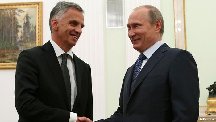 Rais Vladimir Putin wa Urusi akutana na Mwenyekiti wa OSCE Didier Burkhalter mjini Moscow