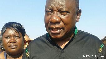 Cyril Ramaphosa Südafrika Wahlen (DW/A. Lattus)