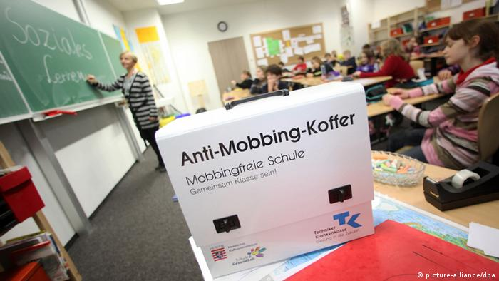 A classroom with students and an anti-mobbbing bag at the front to help reduce bullying in school