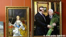 Codex of Mezhyhiria - Exibiton in National Art Museum of Ukraine Sammlung aus der Präsidentenresidenz: Prunkvoll wie ein König, so inszenierte der ehemalige ukrainische Präsident Viktor Janukowitsch seine private Residenz. Seine Kunstsammlung ist jetzt im Nationalen Kunstmuseum in Kiew zu sehen, das erstmals nach den Unruhen auf dem Maidan wieder öffnet. Die Fotos machte unser Korrespondent in Kiew Alexander Sawitski.