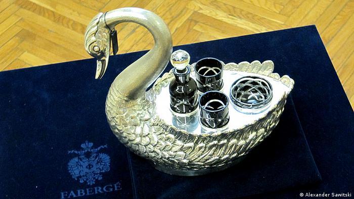 Серебряный лебедь Фаберже