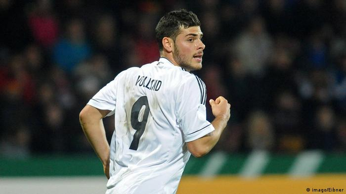 Kevin Volland, playing for the Germany U21 team.
