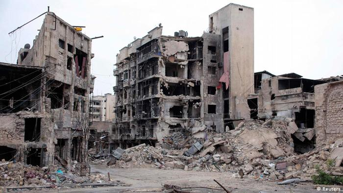 Bombed-out hotel in Aleppo (Photo: REUTERS/George Ourfalian)