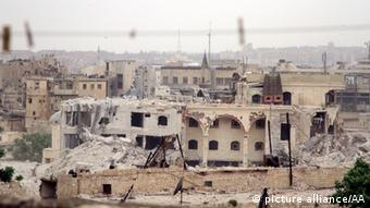 Bombed out homes in Aleppo