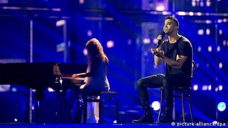 Andras Kallay-Saunders from Hungary at Eurovision 2014