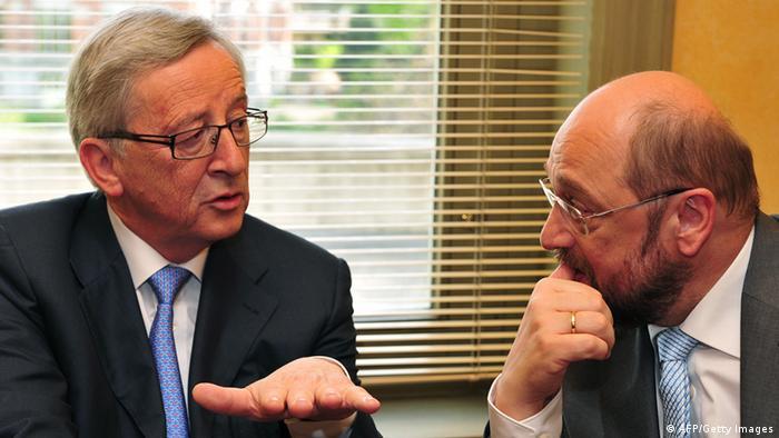 Jean-Claude Juncker și Martin Schulz