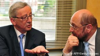 Jean-Claude Juncker and Martin Schulz (Foto: Georges Gobet/AFP/Getty Images)