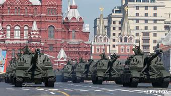 Siegesparade in Moskau Foto: Reuters