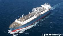 Litauen Schiff mit Flüssiggas nach Klaipeda